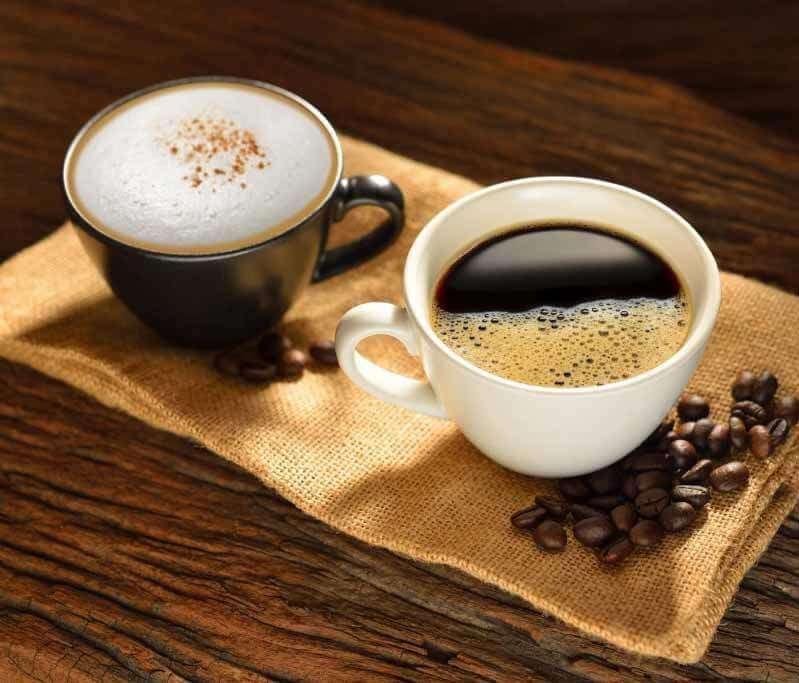 Black coffe white coffe